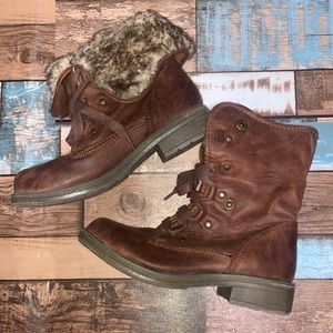 Mossimo, Two Way, Lace-Up Boots, Chestnut, W6.5
